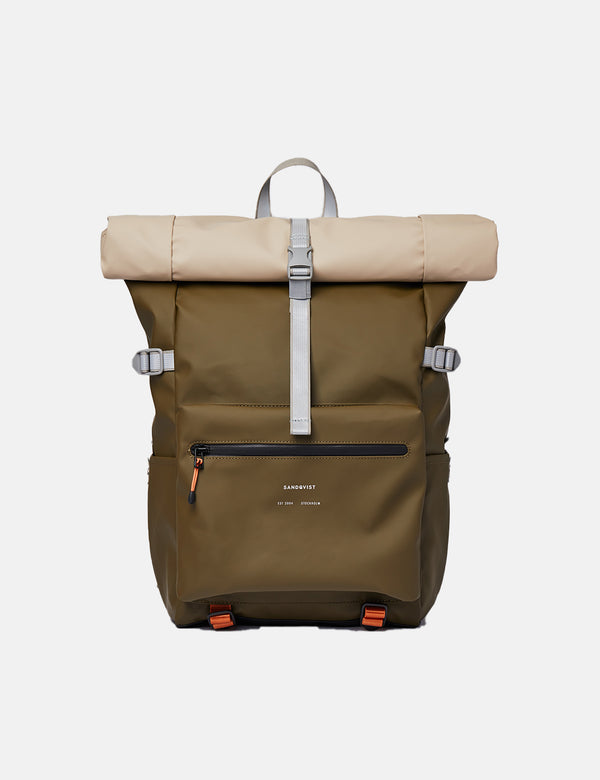 Sandqvist Ruben 2.0 Backpack - Olive/Sand/Black