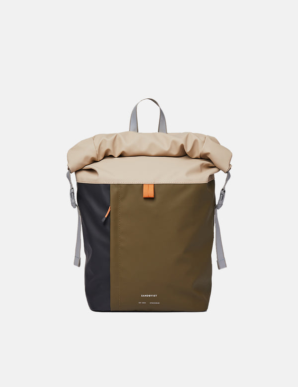 Sandqvist Konrad Backpack - Olive/Sand/Black