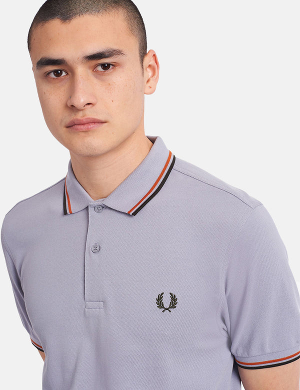 Fred Perry Twin Tipped Polo Shirt - 50's Silver