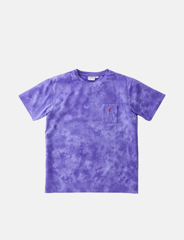 T-Shirt Gramicci One Point Pocket (Tie Dye) - Violet