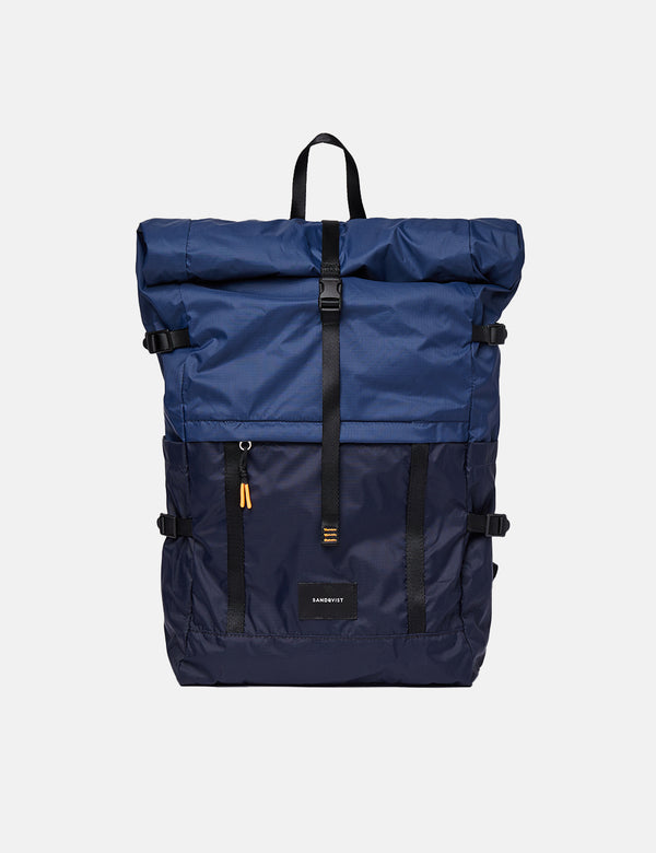 Sandqvist Bernt Lightweight Backpack - Navy Blue/Evening Blue