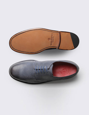 Grenson Finnegan Suede Derby Shoes - Blue