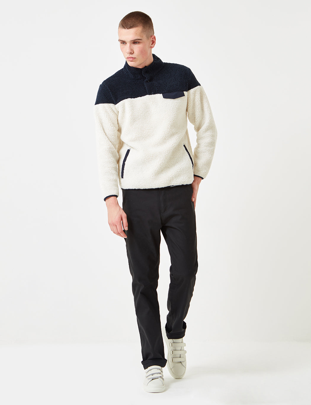 Dickies Bernville Fleece Sweatshirt - Cream