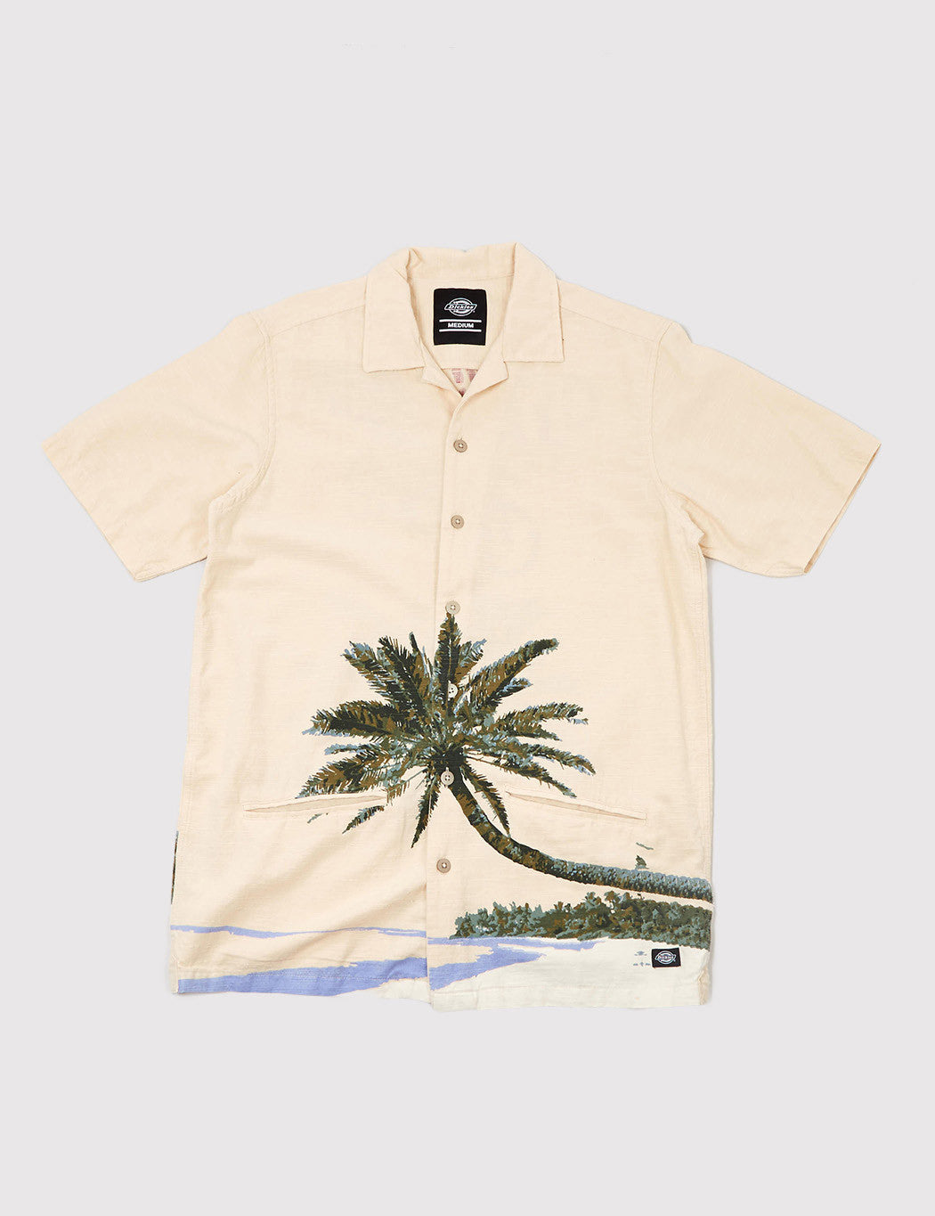 Dickies Hawaiian Gardens Short Sleeve Shirt - Ecru