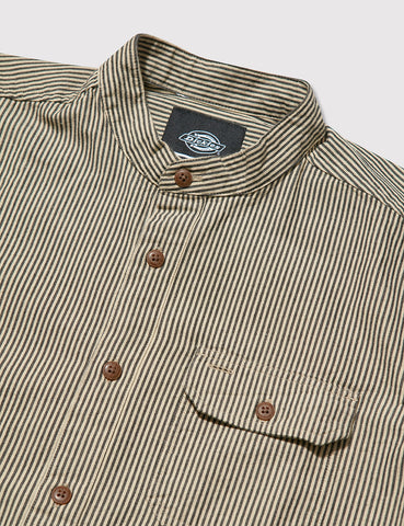 Dickies Waldenburg Collarless Shirt - Ecru