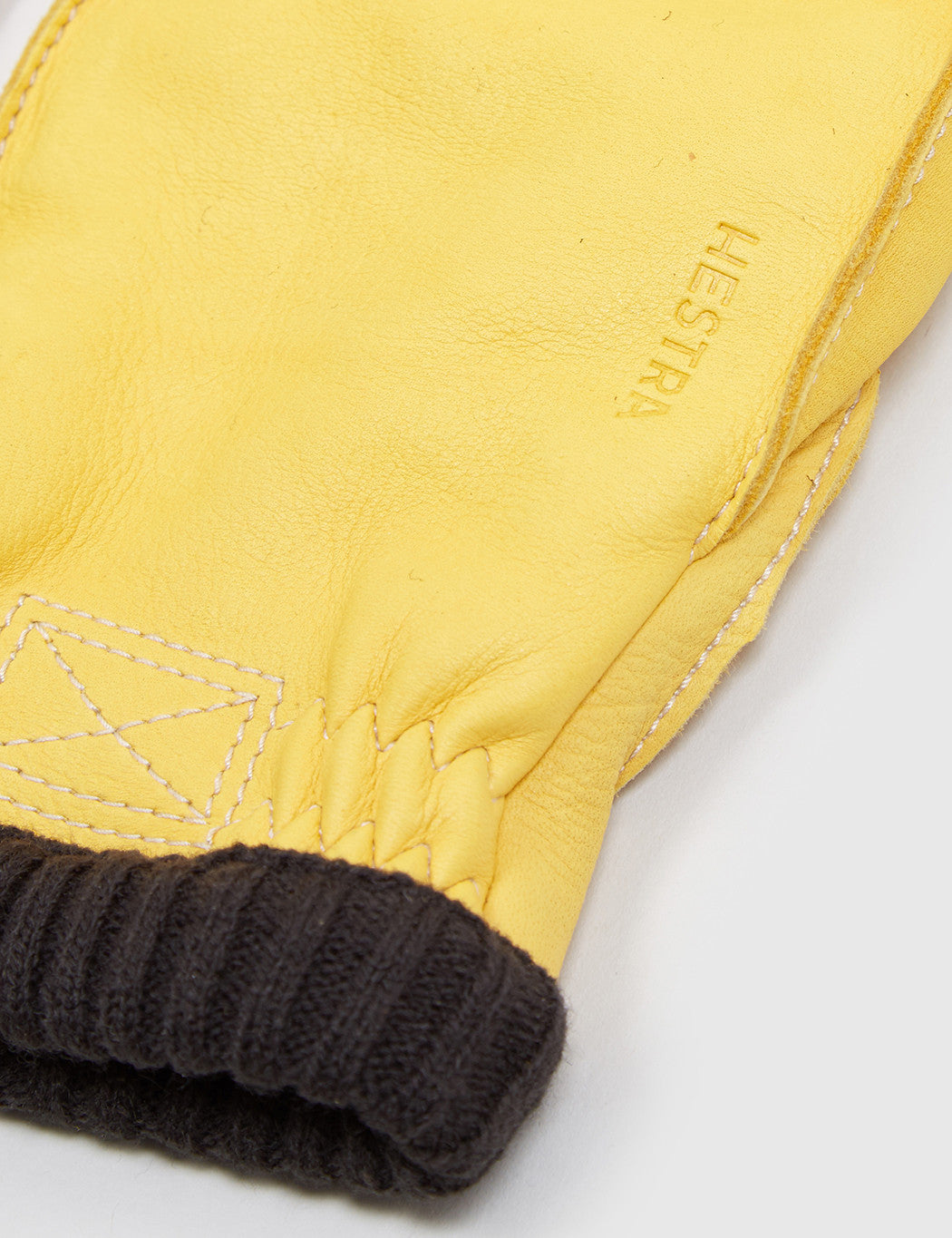 Hestra Deerskin Primaloft Rib Gloves - Natural Yellow