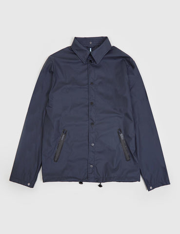 Rains x Oi Polloi Waterproof Coach Jacket - Navy Blue