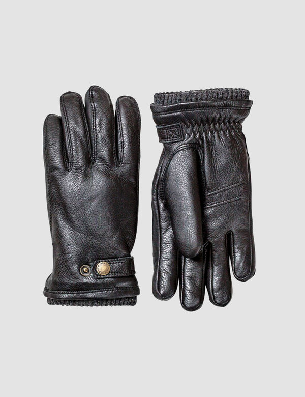 Hestra Utsjo Sport Gloves (Leather) - Black