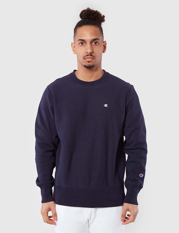 Champion Reverse Weave Sweatshirt - Navy Blue