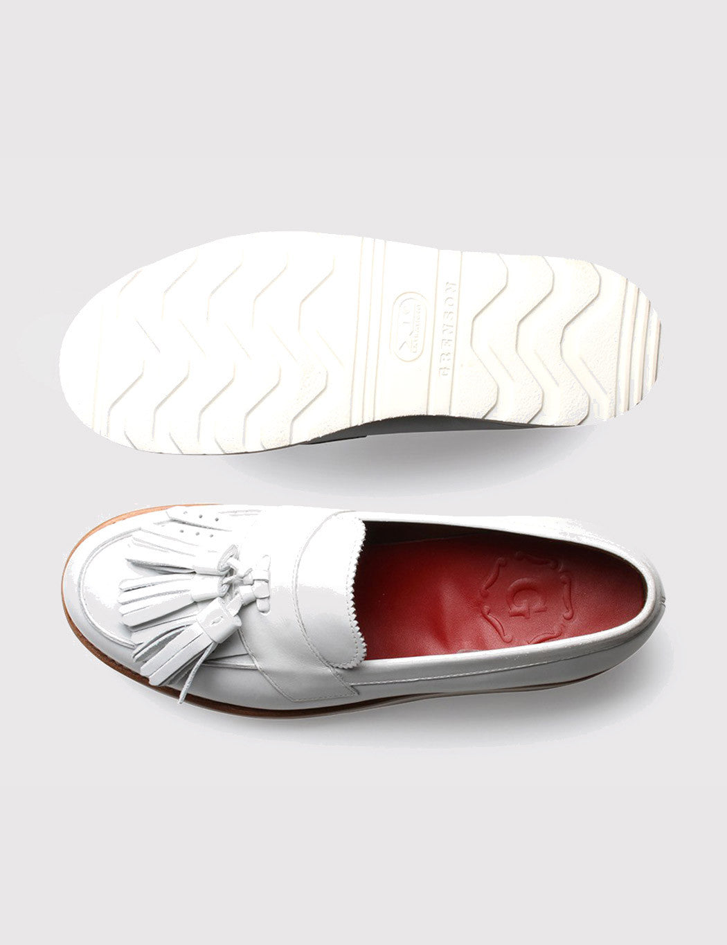 Womens Grenson Clara Shoe - White Calf