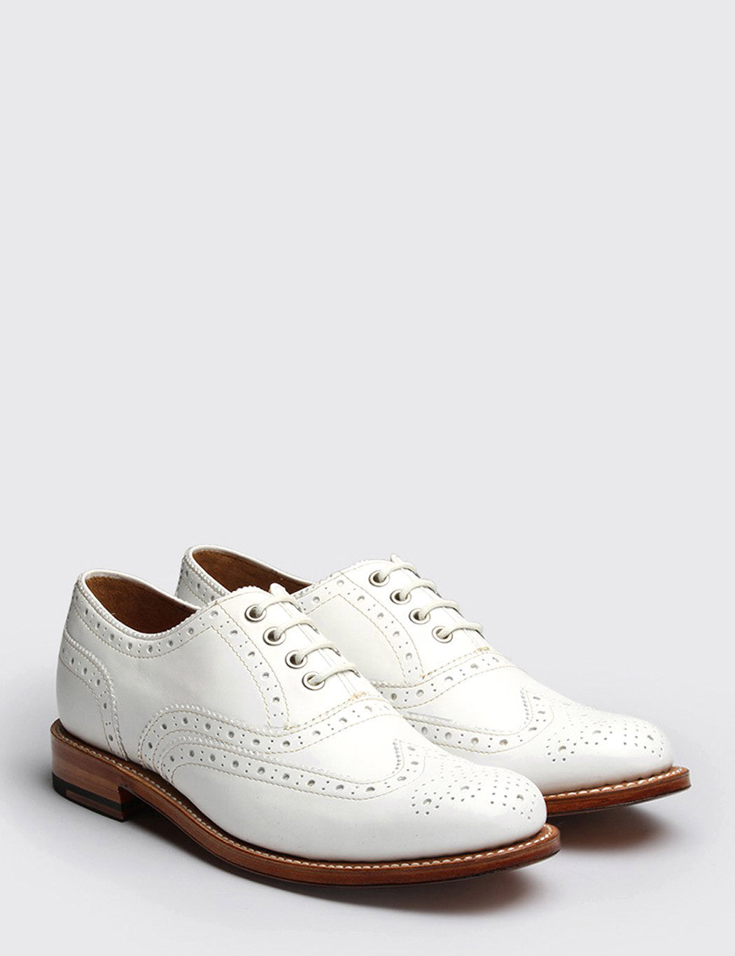 Womens Grenson Rose Shoe - White Calf