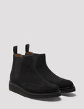 Grenson Womens Alice Suede Chelsea Wedged Boot - Black