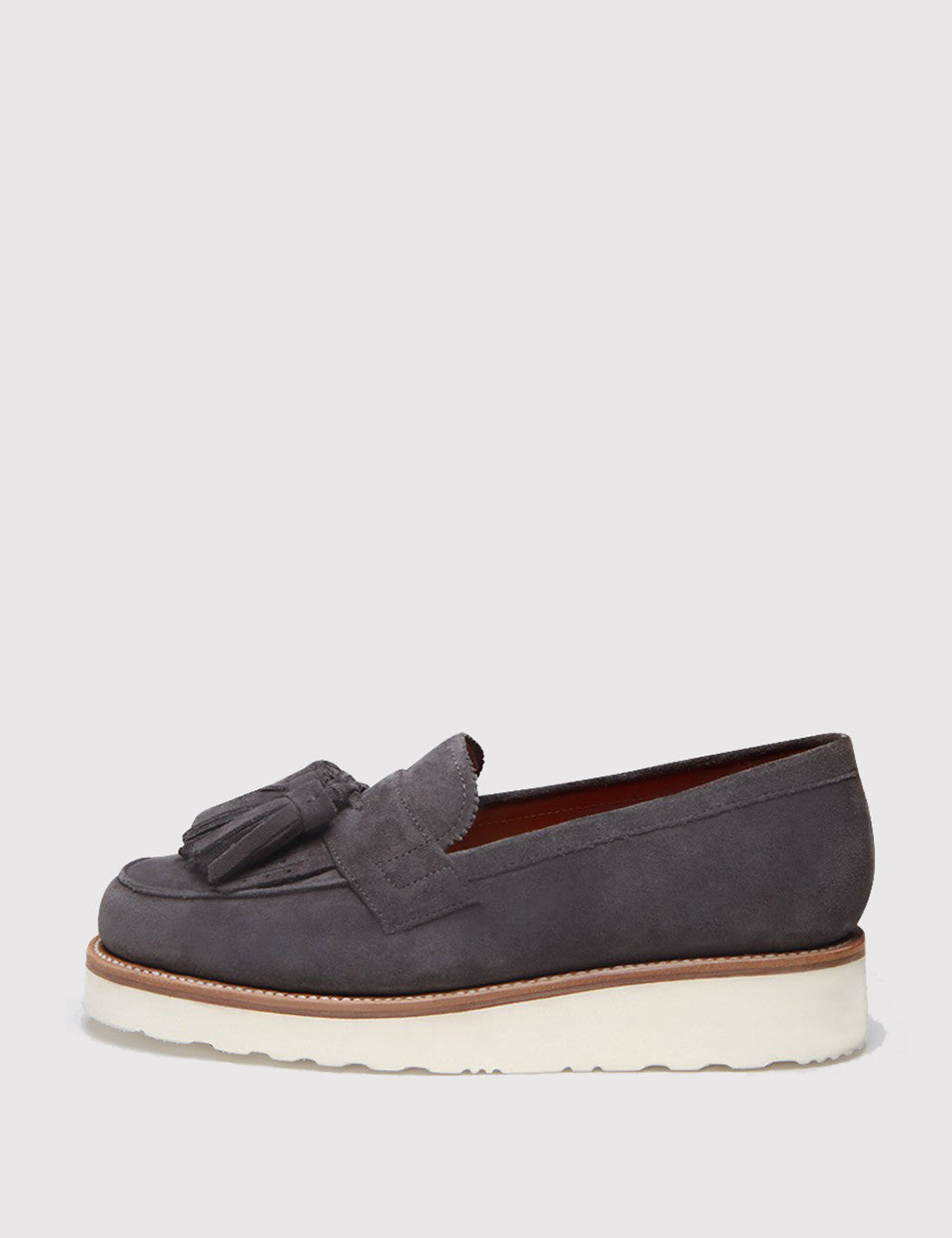 Grenson Womens Clara Suede Loafer - Charcoal
