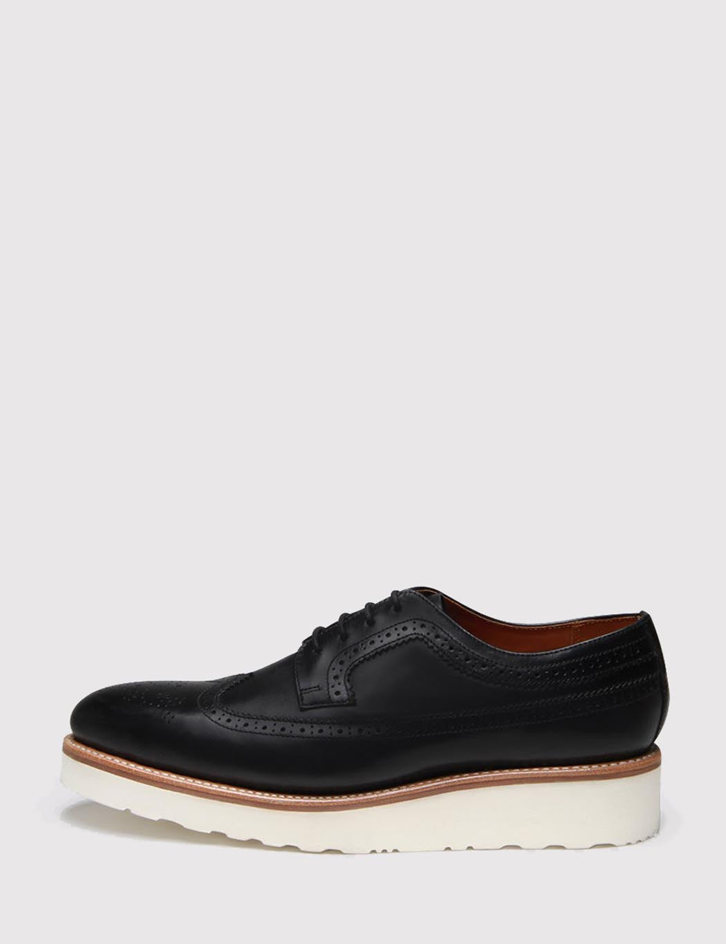 Grenson Womens Agnes Colorado Brogue Shoes - Black