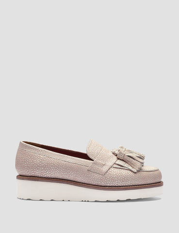 Grenson Womens Clara Loafer - Pink Stingray