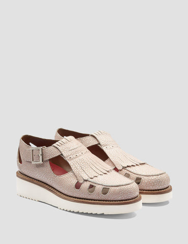 Grenson Womens Ethel Sandal - Pink Stingray