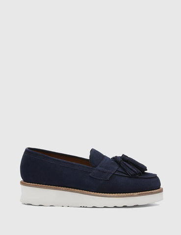 Grenson Womens Clara Suede Loafer - Navy