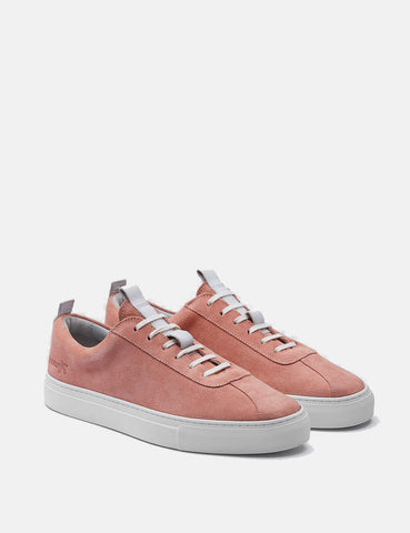 Womens Grenson Sneakers 1 (Suede) - Seashell Pink