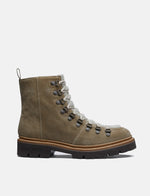 Womens Grenson Nanette Ski Boot (Suede/Shearling) - Maple/Cream