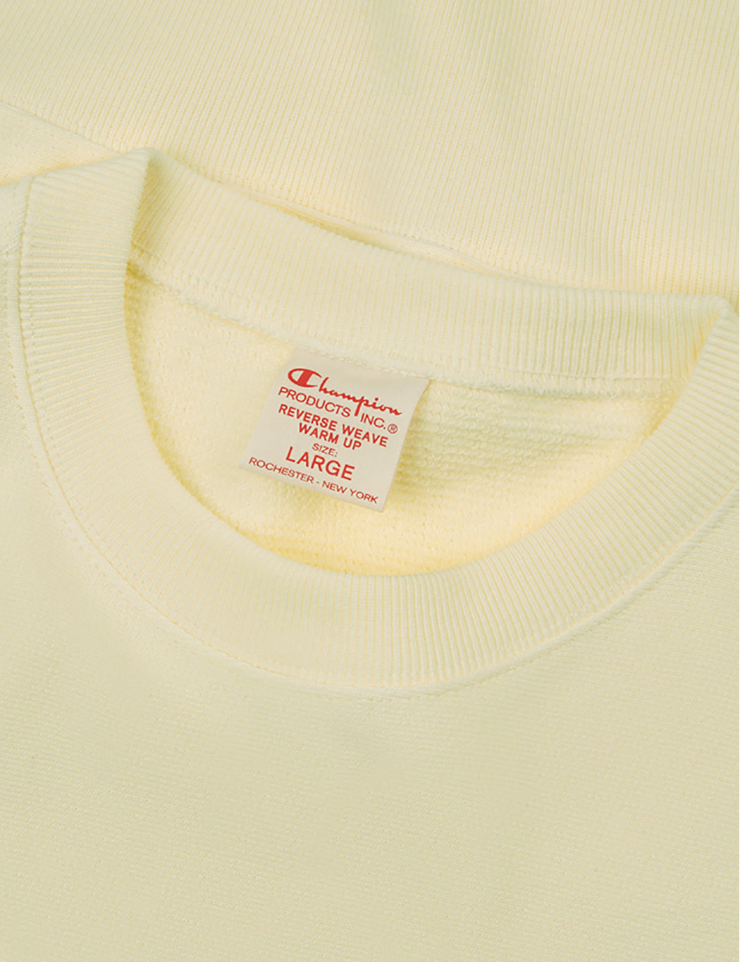 Champion Reverse Weave Sweatshirt - Light Yellow