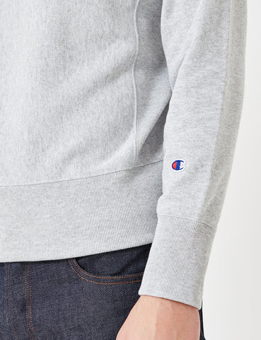 Champion Reverse Weave Sweatshirt - Light Grey Marl