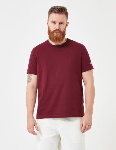 Champion Reverse Weave T-Shirt - Burgundy