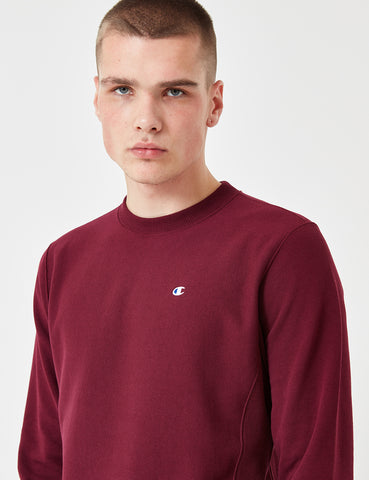 Champion Reverse Weave Sweatshirt - Burgundy