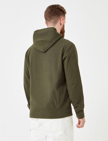 Champion Reverse Weave Hooded Sweat - Dark Green