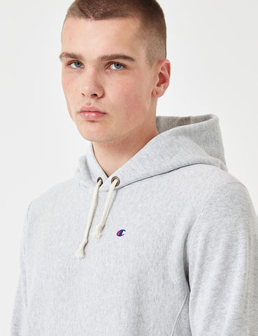 Champion Reverse Weave Hooded Sweatshirt - Grey Marl
