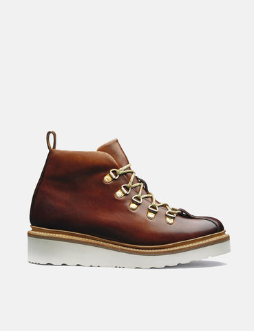 Womens Grenson Bridget Ski Boot (Hand Painted) - Tan