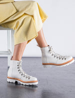 Womens Grenson Nanette Ski Boot (Leather) - White