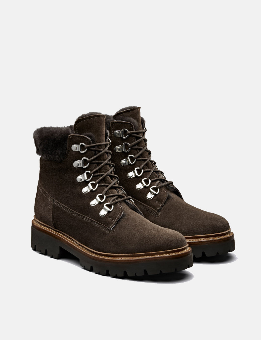 Womens Grenson Brooke Derby Hiker Boot (Suede) - Peat | URBAN EXCESS.