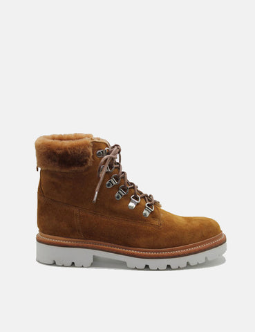 Womens Grenson Brooke Derby Hiker Boot (Suede) - Rum Brown