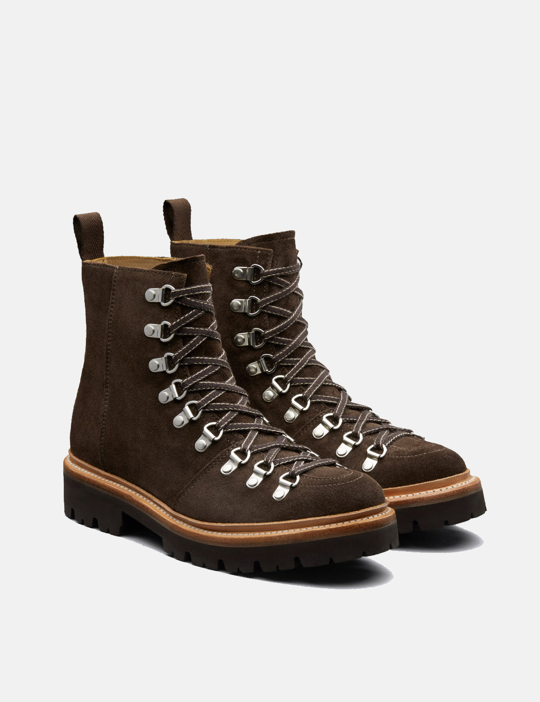Womens Grenson Nanette Ski Boot (Suede) - Peat Brown   URBAN EXCESS.
