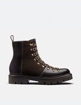 Womens Grenson Nanette Ski Boot (Colorado Leather) - Dark Brown