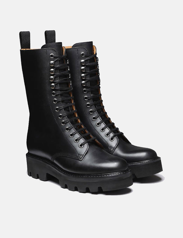Damen Grenson Mavis Boot (Pull Up) - Schwarz