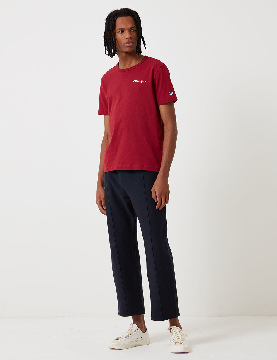 Champion Script Logo T-Shirt - Burgundy