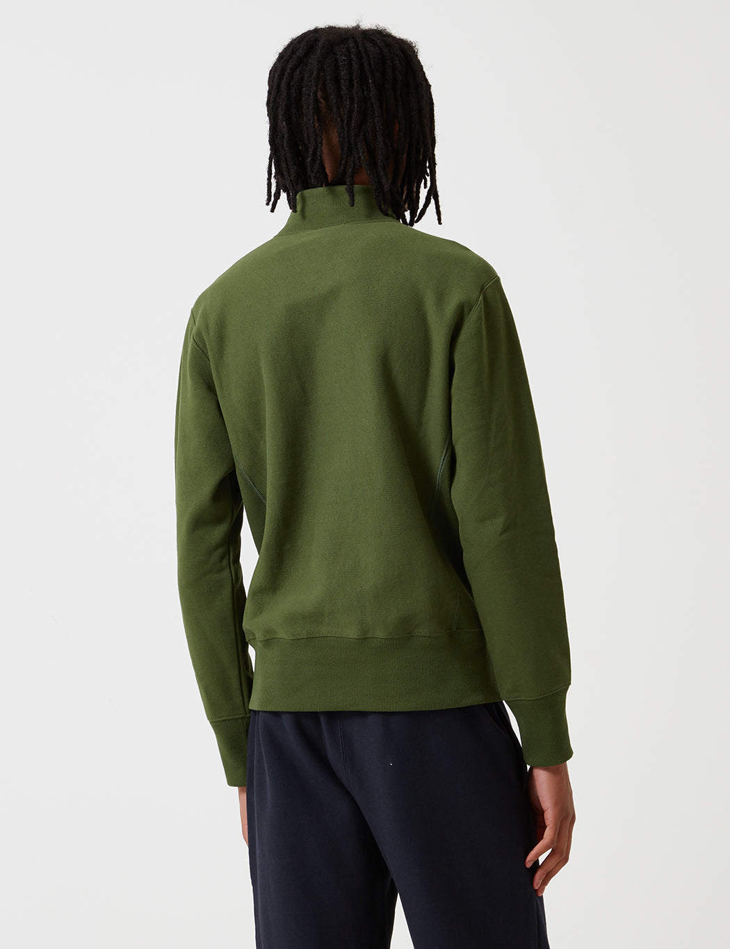 Champion Reverse Weave Half Zip Sweatshirt - Green