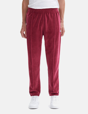 Champion Velour Straight Hem Pant - Burgundy