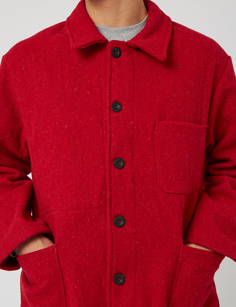 Le Laboureur Wollarbeitsjacke - Rot