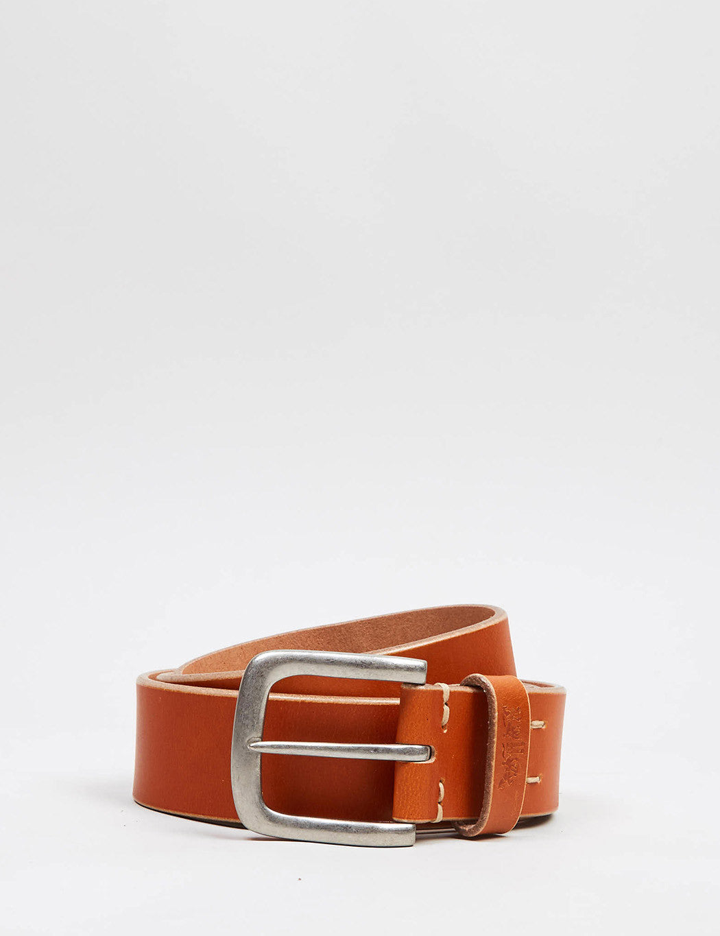 Levis Heavy Leather Premium Belt - Light Brown