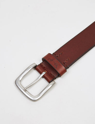 Levis Heavy Leather Premium Belt - Dark Brown