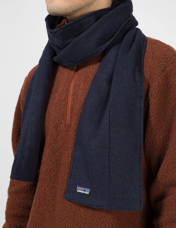 Patagonia Fjord Flannel Patchwork Scarf - Navy Blue
