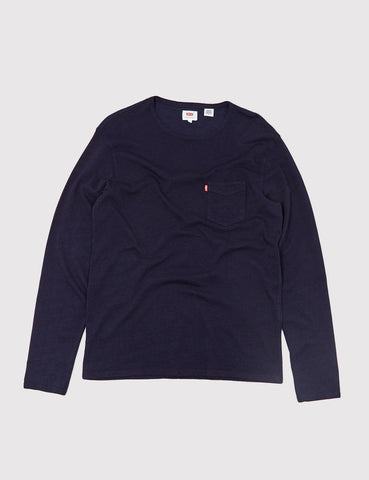 Levis Sunset Pocket Long Sleeve T-Shirt - Indigo Blue