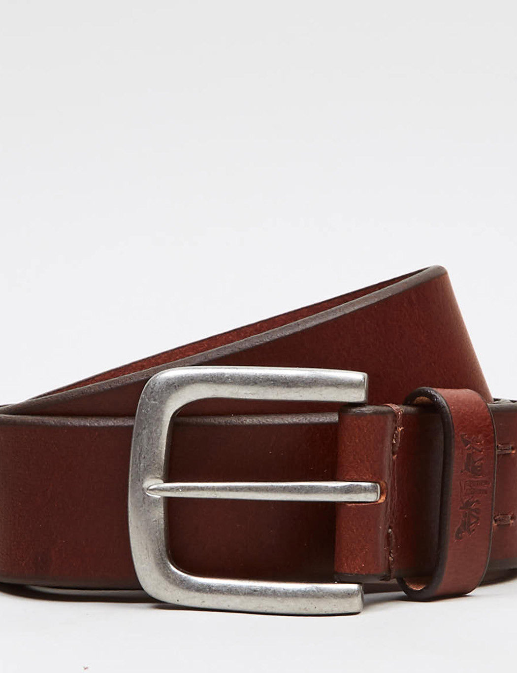 Levis Two Horse Pull Embossed Belt - Dark Brown