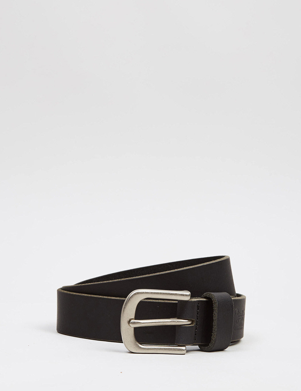 Levis Two Horse Pull Embossed Belt - Black