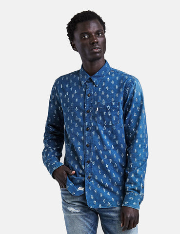 Levis Premium Sunset One Pocket Floral Print Shirt - Indigo