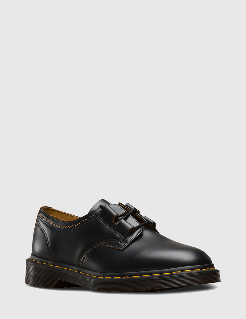 Dr Martens 1461 Ghillie Shoes - Black Smooth