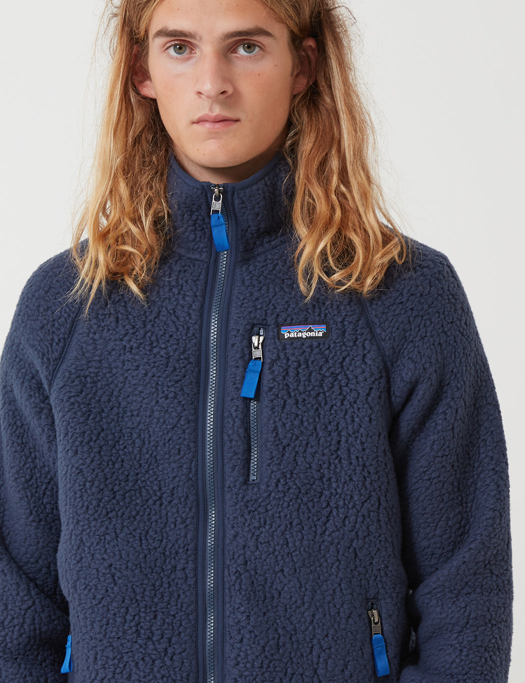 shop look out for buying cheap Patagonia Retro Pile Jacket - New Navy Blue | URBAN EXCESS.