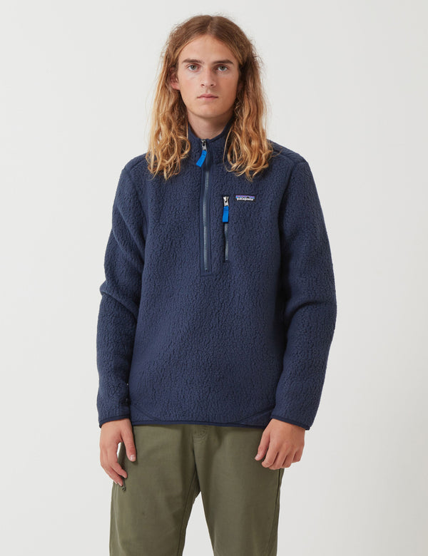 Patagonia Retro Pile Fleece Pullover - New Navy Blue
